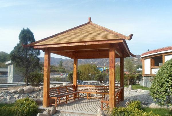 环保木凉亭的设计过程及巧妙性能